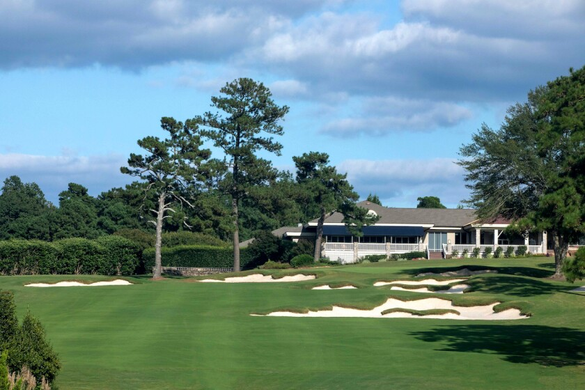 Raleigh Country Club 9th hole after renovation