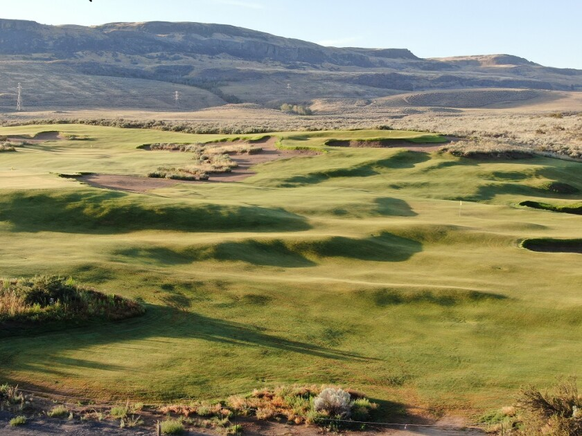 The grow-in at Gamble Sands' Quicksands Course in Brewster, Wash.