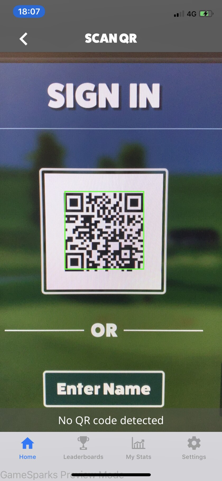Awesome Golf App scan code