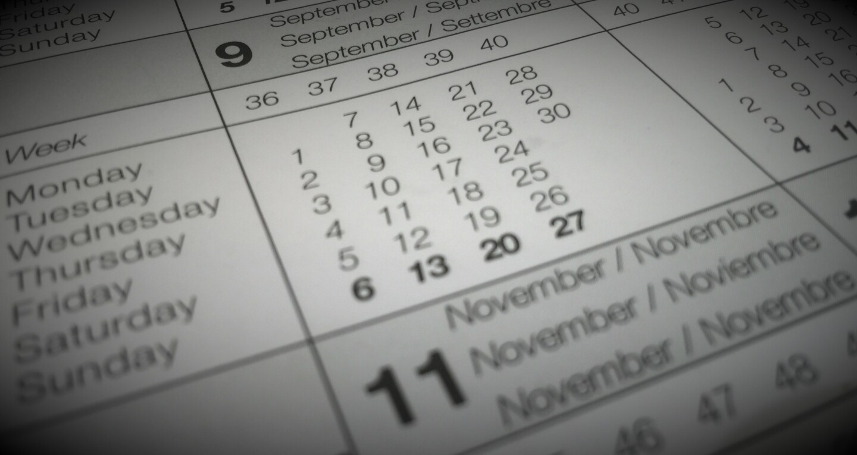 Golf Calendar
