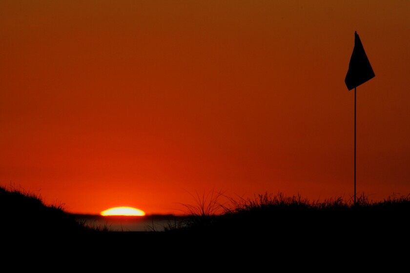 Ballybunion Golf Club at sunset