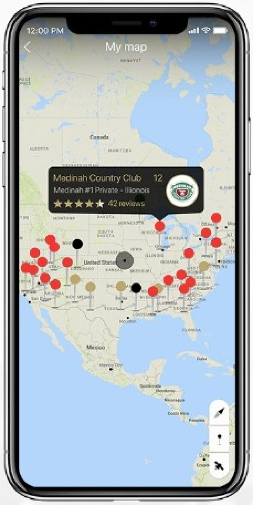 GolfPlayed app