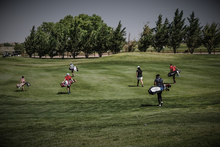 Golf group on course