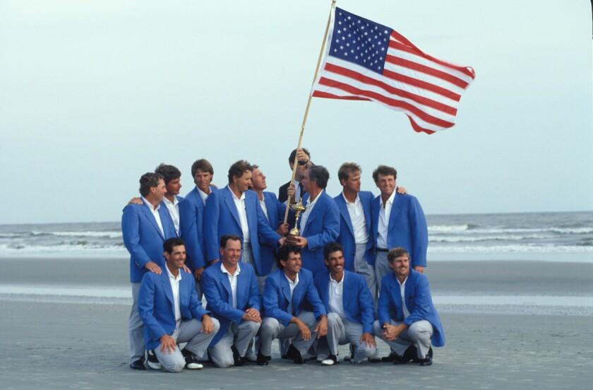 U.S. team wins 1991 Ryder Cup at Kiawah Island's Ocean Course