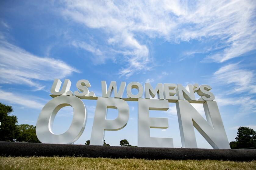 U.S. Women's Open sign