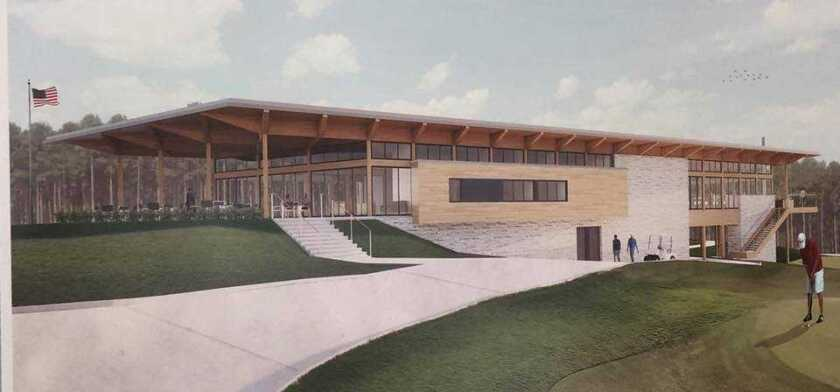 Mystic Creek Golf Club clubhouse rendering