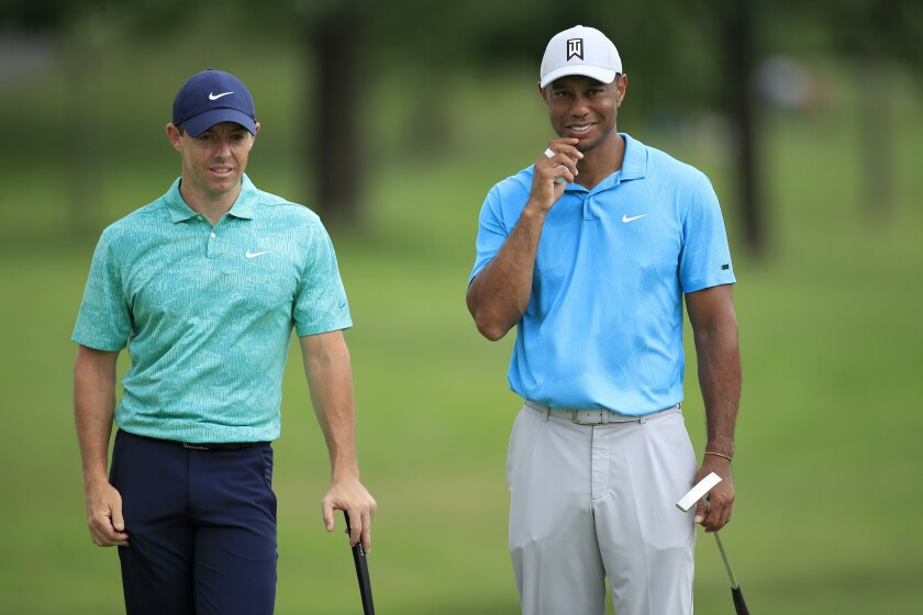 Rory McIlroy Tiger Woods 2020 Memorial