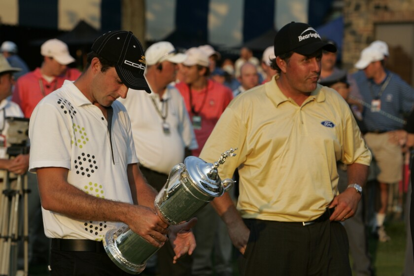 Winner Geoff Ogilvy and runner-up Phil Mickelson at 2006 U.S. Open