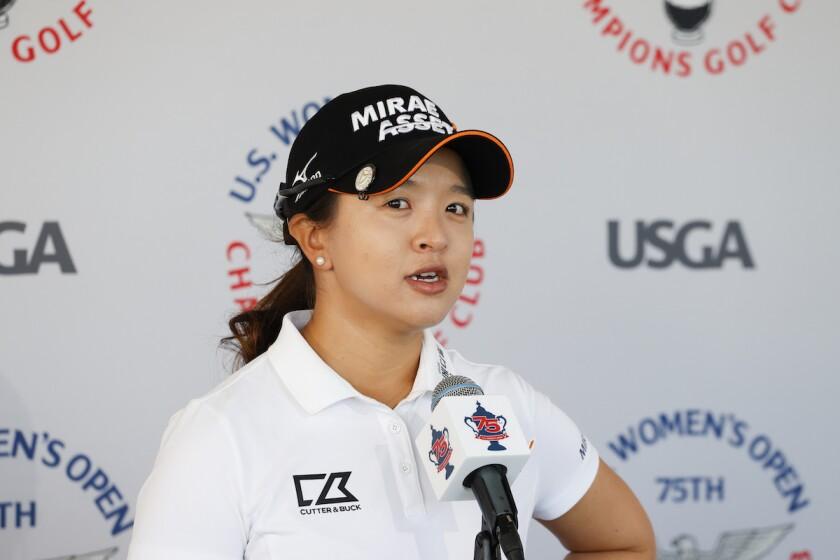 Sei Young Kim before 2020 U.S. Women's Open