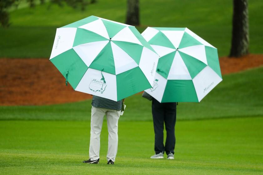 Umbrellas at the Masters