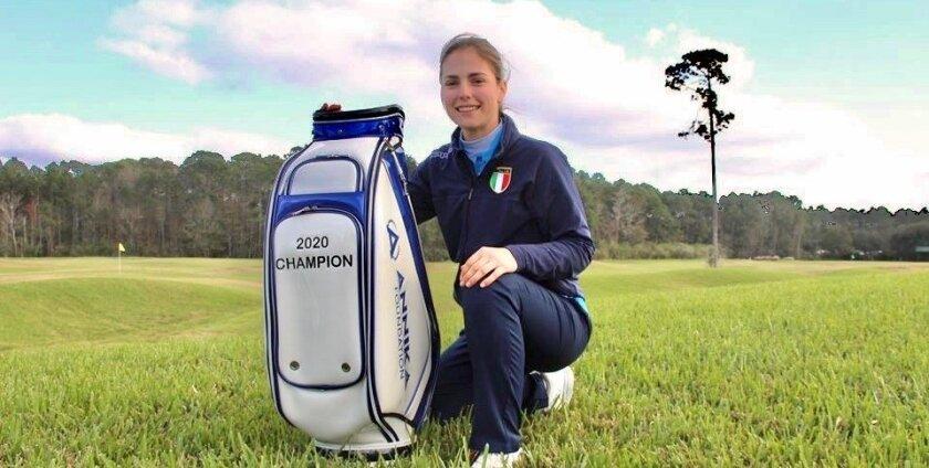 Orca Golf Bags product goes to 2020 AJGA Annika Invitational USA champion Benedetta Moresco