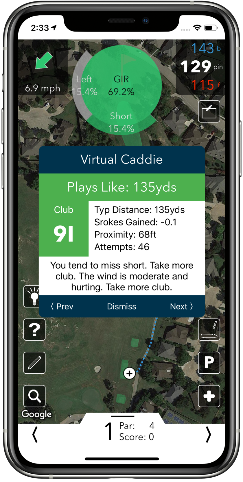 V1 Game Virtual Caddie