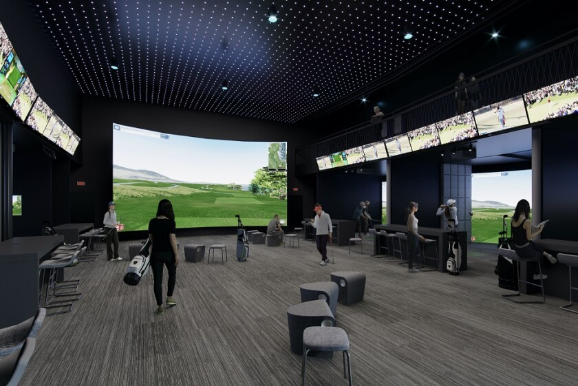 Golfinity interior rendering Austin, Texas