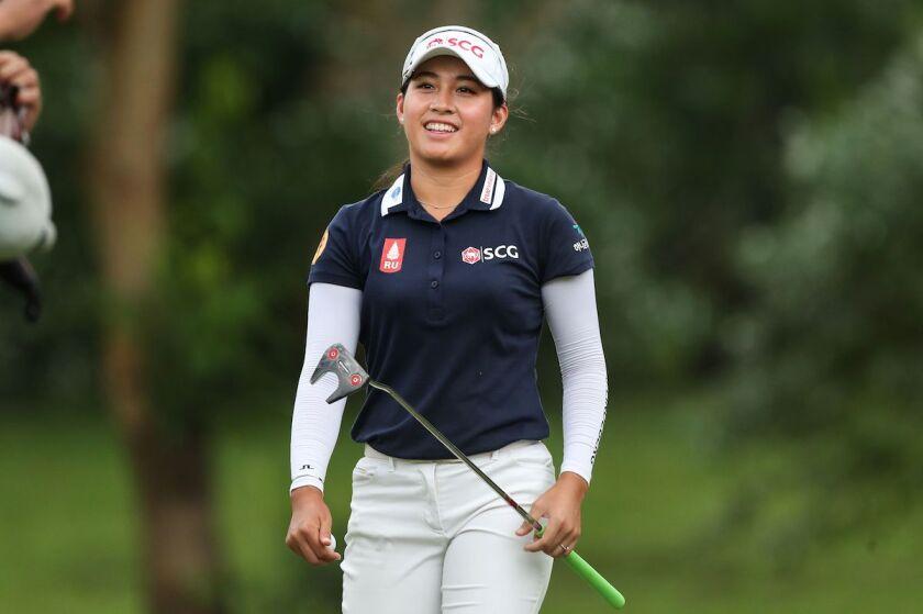Atthaya Thitikul first round 2021 Honda LPGA Thailand