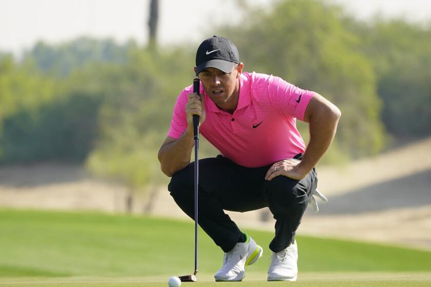 Rory McIlroy at 2021 Abu Dhabi HSBC Championship