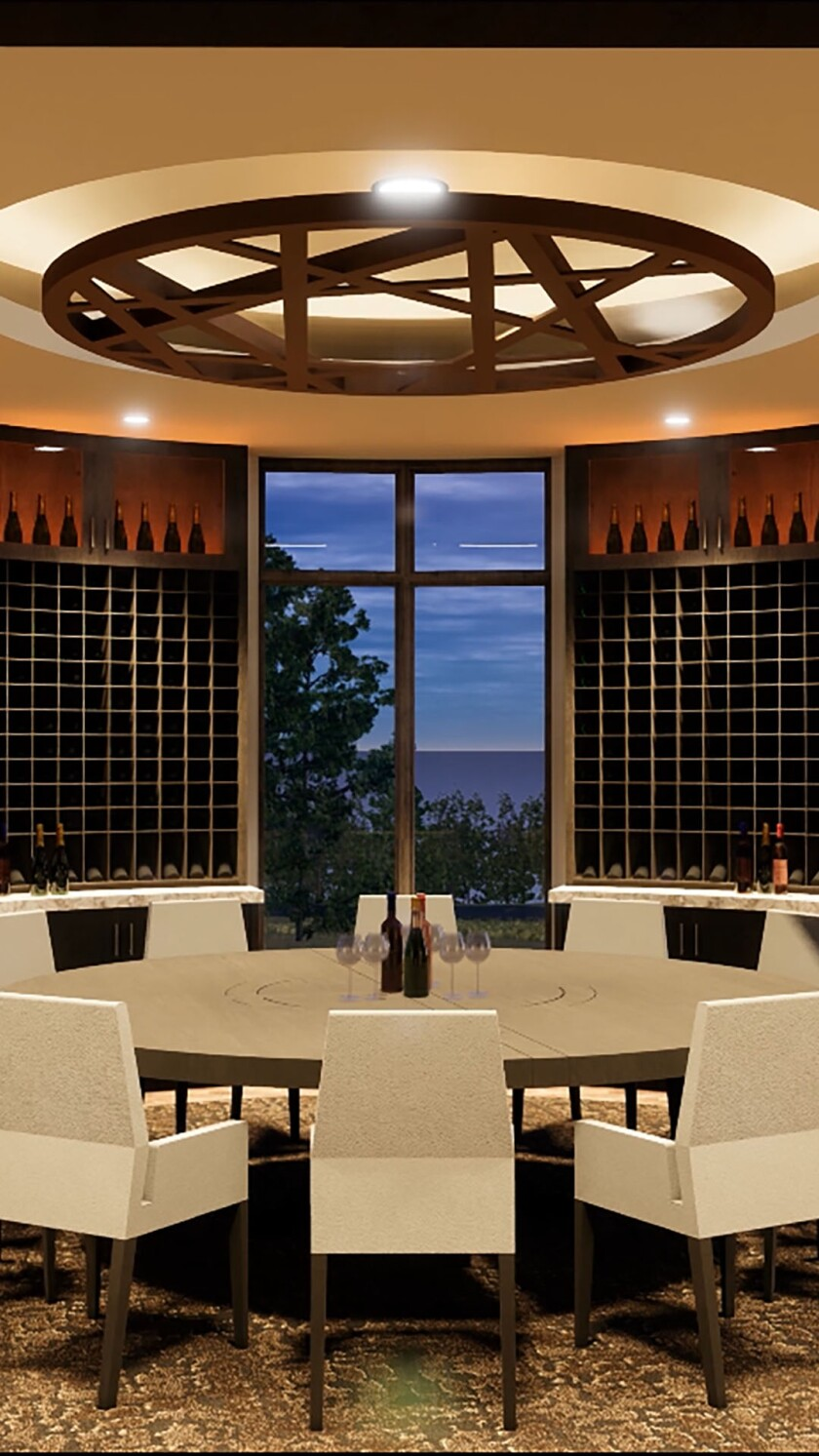 Dormie Club clubhouse wine room