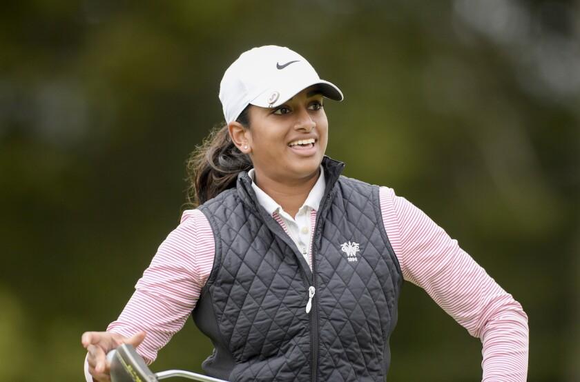 Megha Ganne in 1st round of 2021 U.S. Women's Open