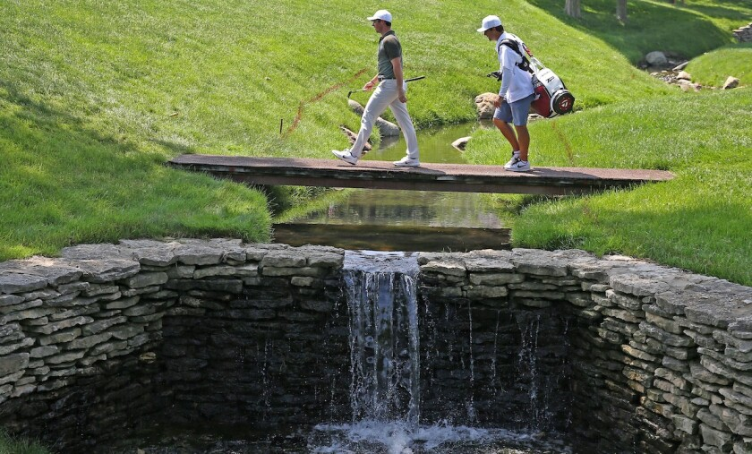 Muirfield Village Golf Club 17th hole Rory McIlroy
