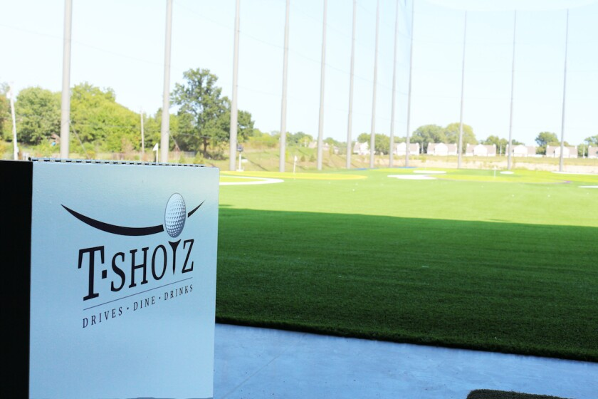 T-Shotz hitting stall in Kansas City, Mo.