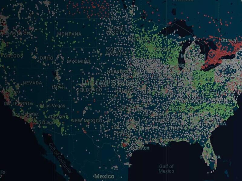 US Golf Heat Map