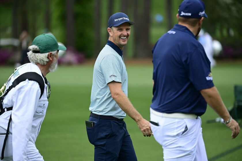 Justin Rose second round 2021 Masters