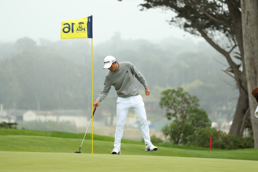 Collin Morikawa makes eagle on Harding Park 16th hole 2020 PGA Championship final round