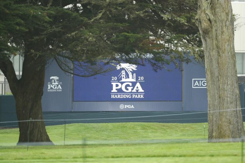 PGA Championship signage TPC Harding Park
