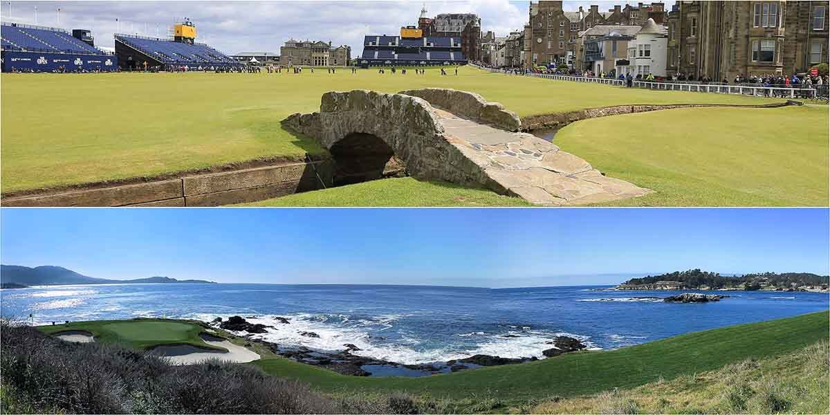 Old Course at St. Andrews, Pebble Beach Golf Links