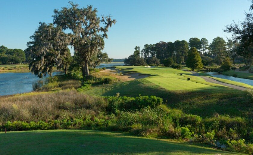 The 14th hole at Belfair's East Course in Bluffton, S.C.
