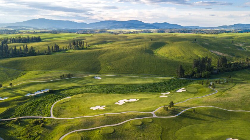 Circling Raven Golf Club — Aerial of Holes 4 and 5