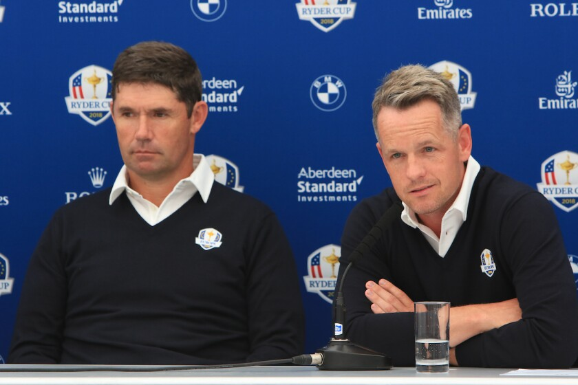 Padraig Harrington and Luke Donald