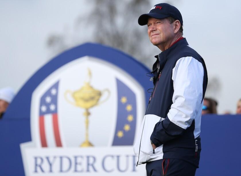 U.S. captain Tom Watson at 2014 Ryder Cup at Gleneagles