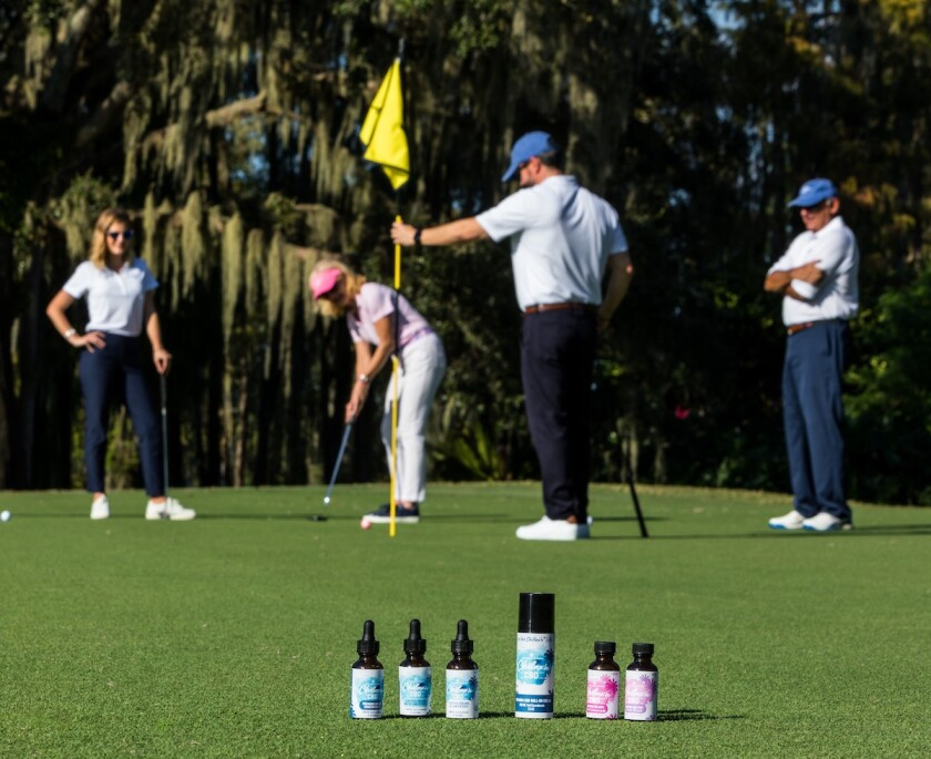 Chillax'n CBD products on golf course