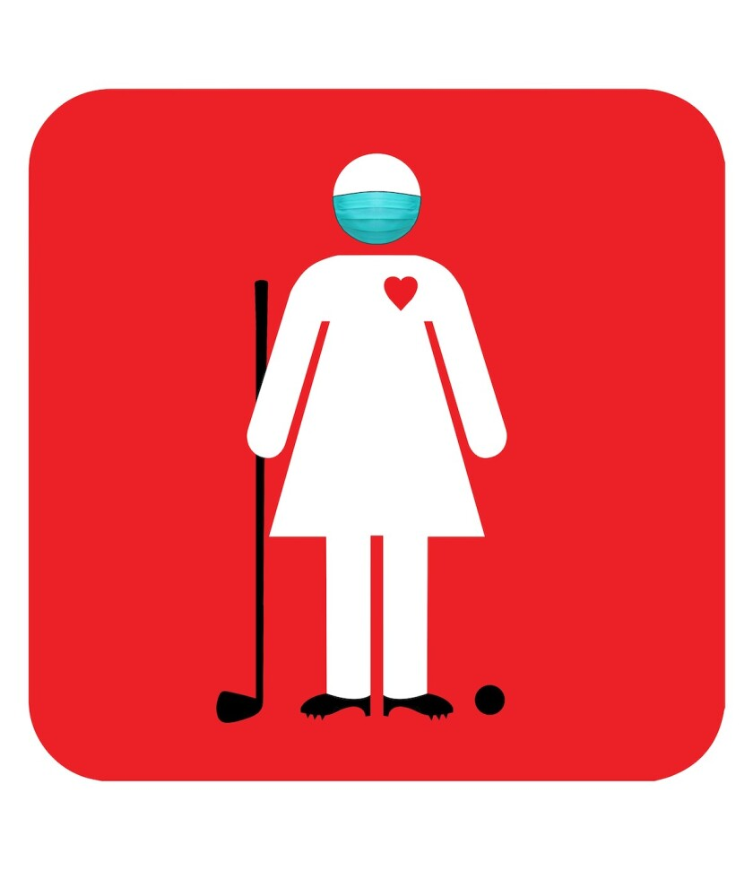 Women's Golf Day logo with mask