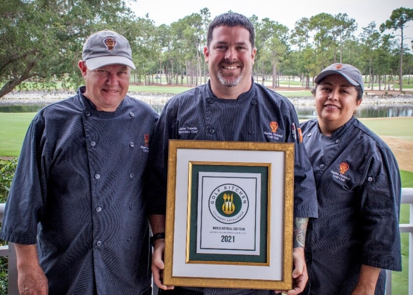 Jason Voiselle, Executive Chef, with kitchen staff Eric Wilson and Chayo Soto.jpg