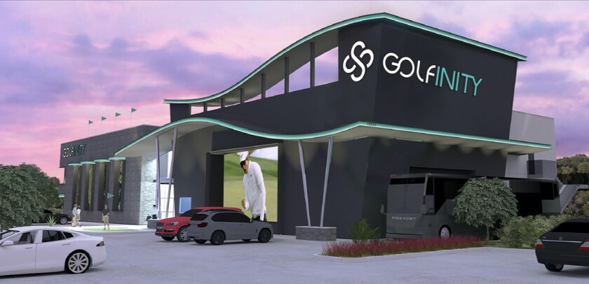 Golfinity exterior rendering Austin, Texas