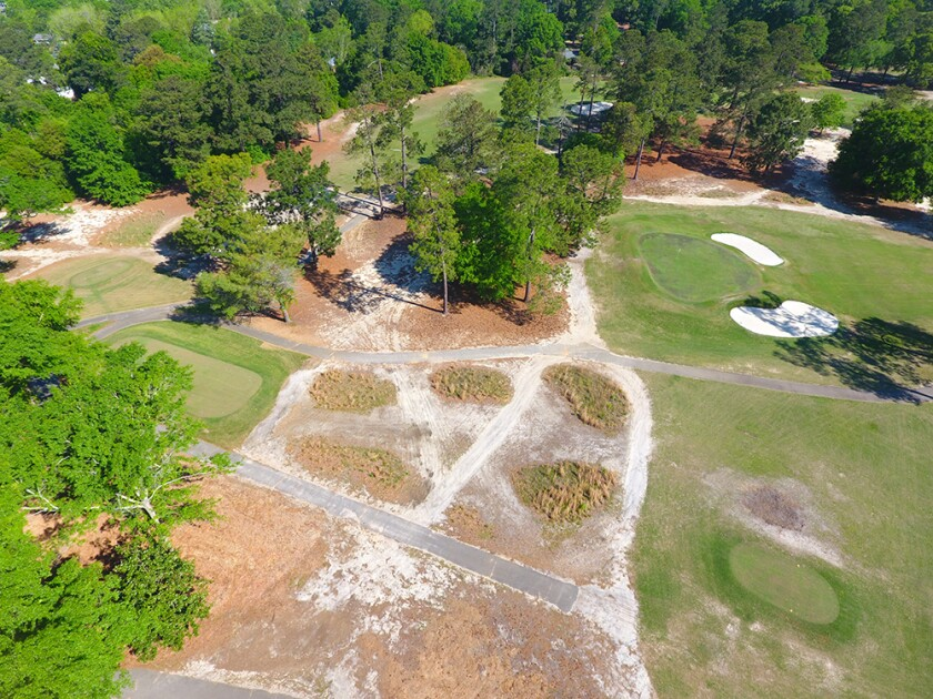 Drone overview of Quixote Club prior to renovation work