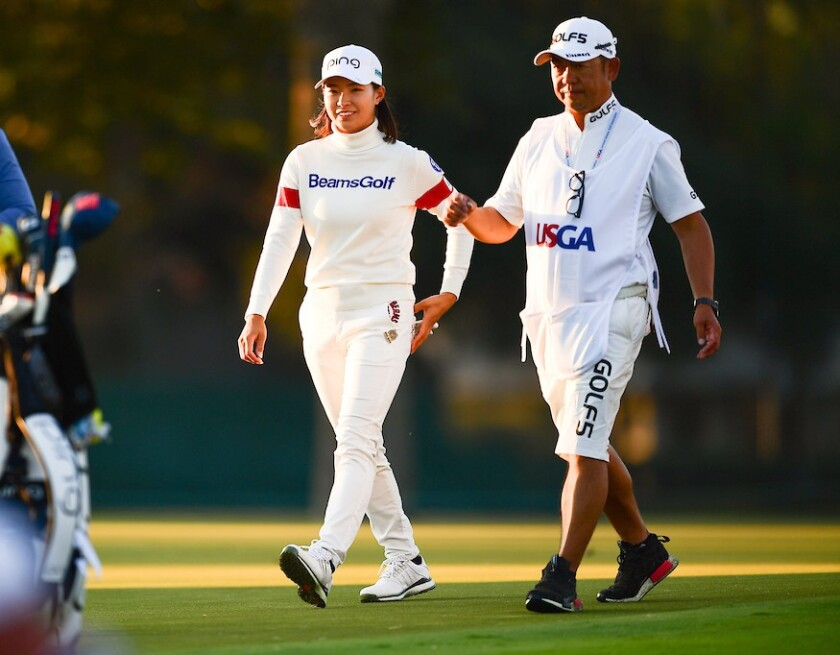 Hinako Shibuno leadss after 3rd round 2020 U.S. Women's Open