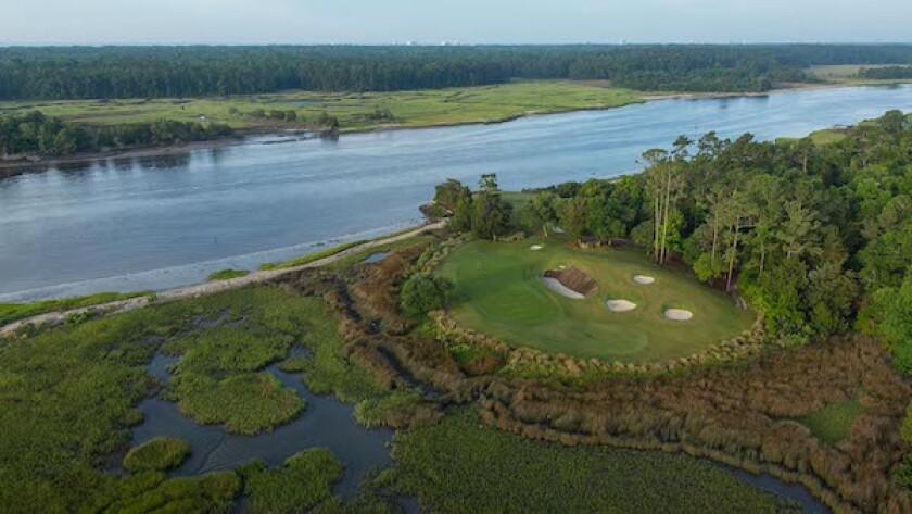 Glen Dornoch Waterway Golf Links, Hole No. 17 | Par 3