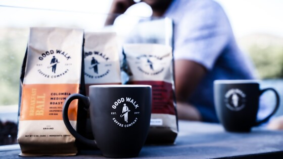 Good Walk Coffee Co. — mugs and coffee
