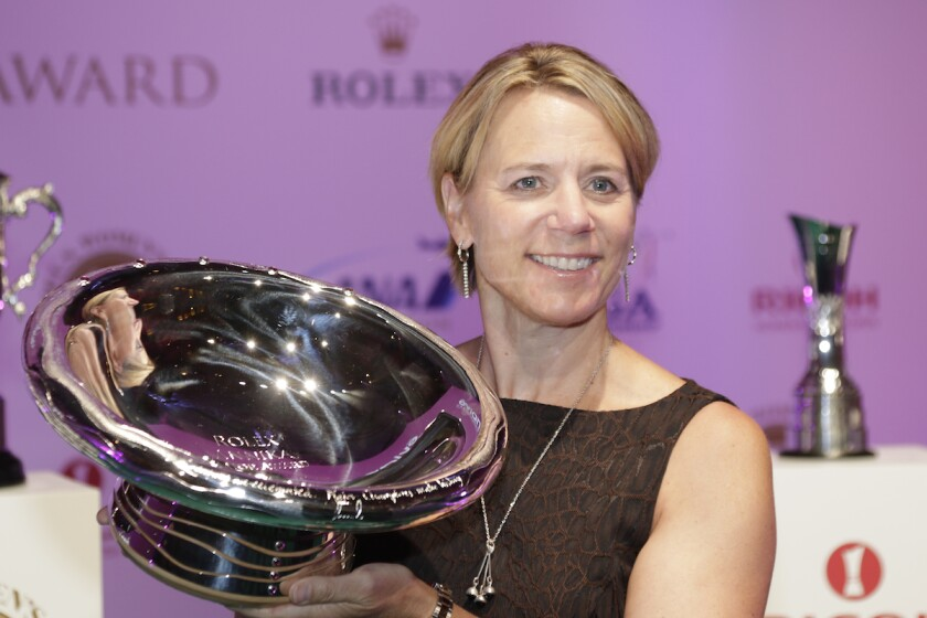 Annika Sorenstam at the 2016 Evian Championship