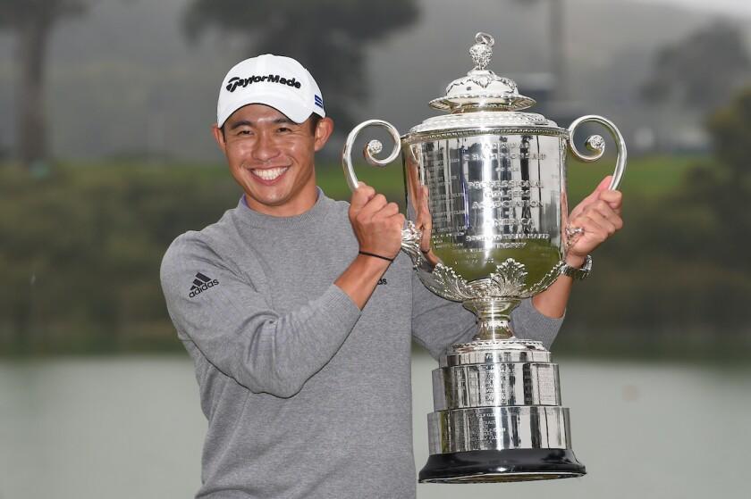Collin Morikawa 2020 PGA Championship Wanamaker Trophy