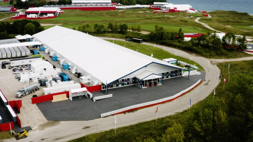 Ryder Cup Merchandise Tent   Exterior / 2020 Whistling Straits