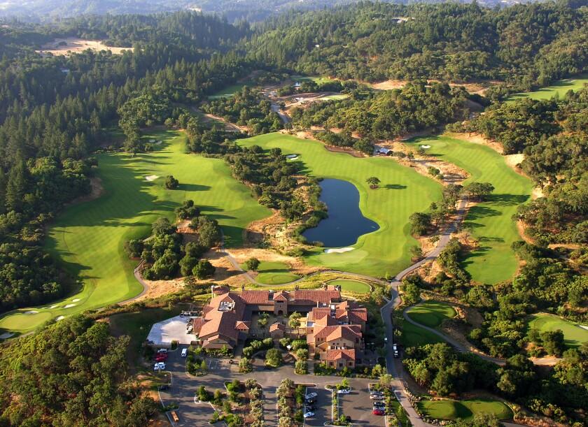 Aerial view of Mayacama Golf Club