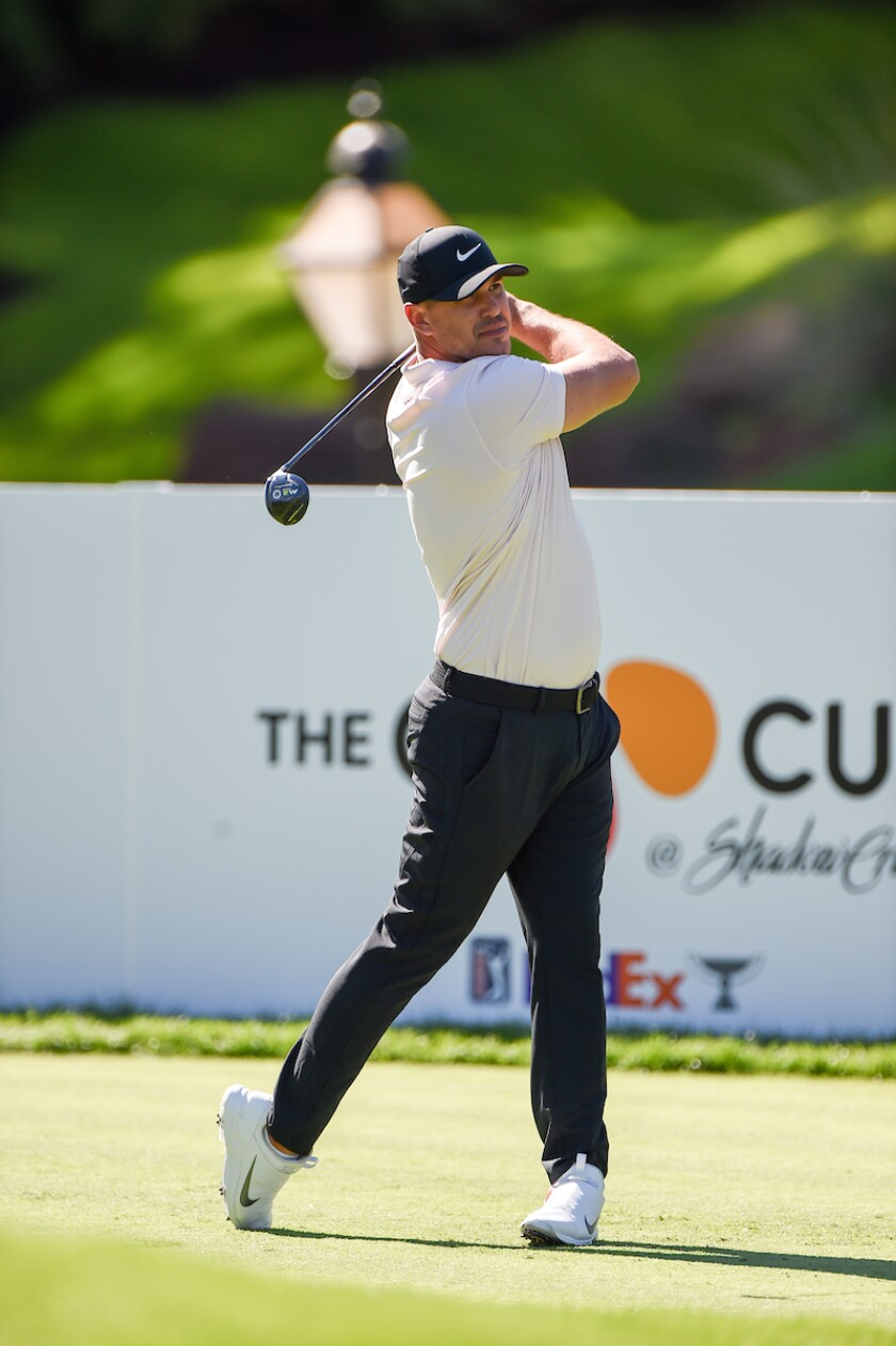 Brooks Koepka in 1st round at 2020 The CJ Cup at Shadow Creek