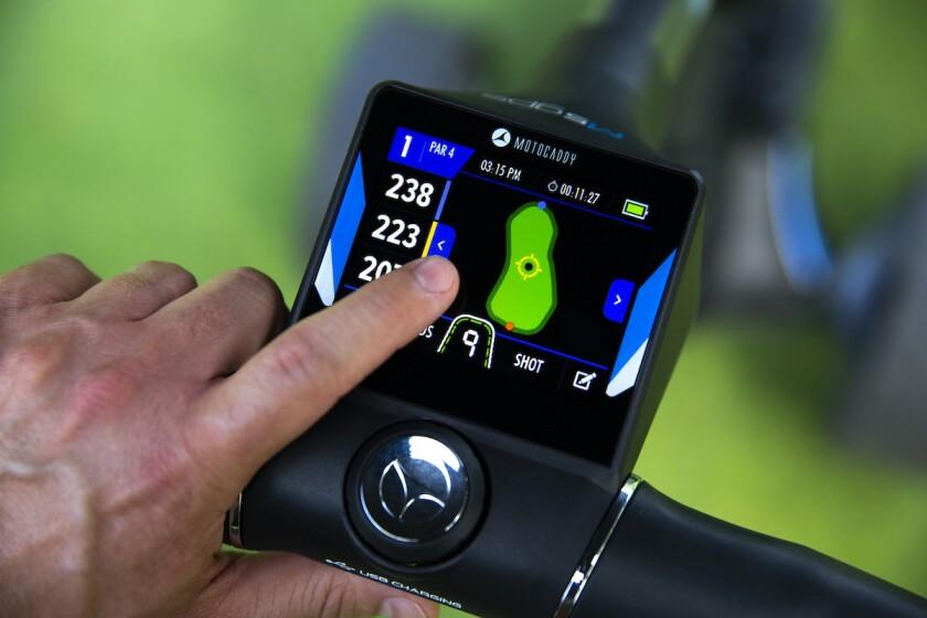 Motocaddy digital screen