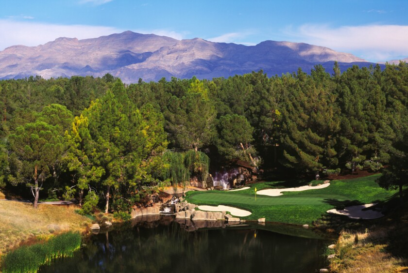 17th hole at Shadow Creek Golf Course in Las Vegas
