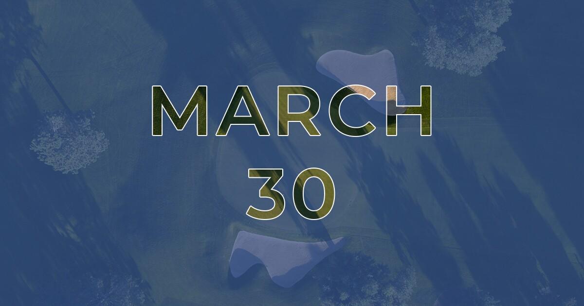 Coronavirus - March 30 - Live COVID-19 Golf News