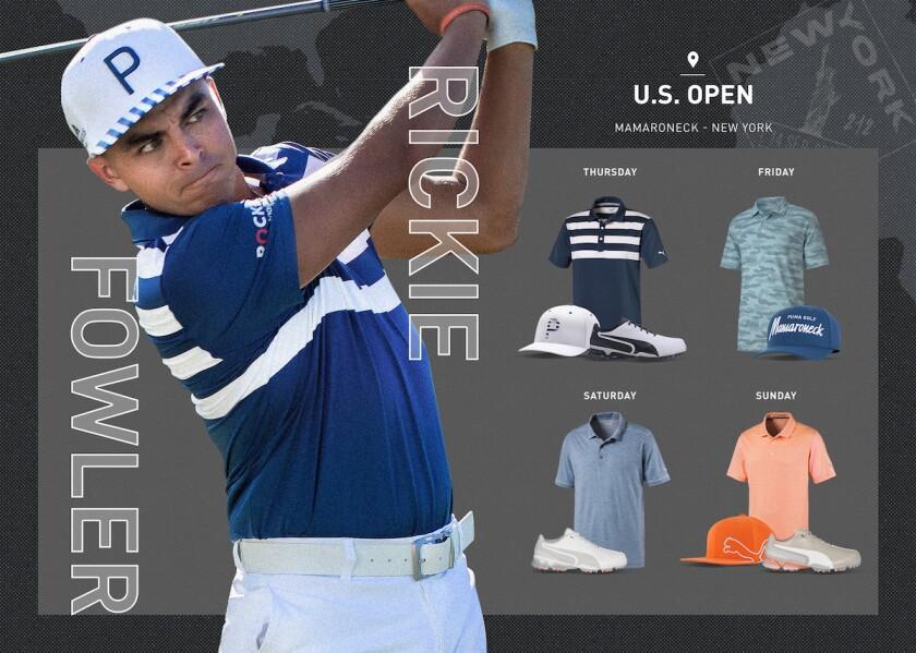 Puma Golf Rickie Fowler 2020 U.S. Open script