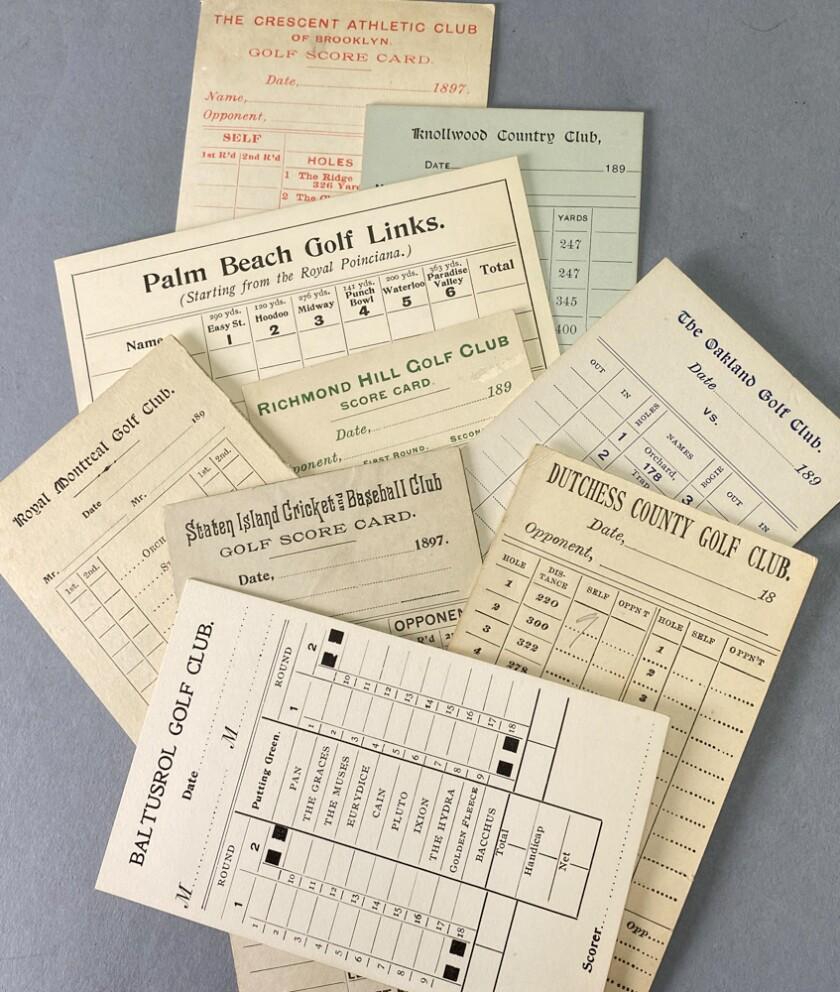 Jeff Ellis Golf Auctions vintage scorecards
